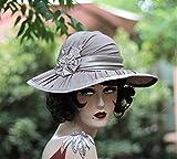 Wide Brim Victorian Formal Wedding Hat