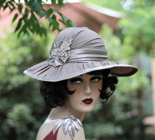 Wide Brim Victorian Formal Wedding Hat by Hats by Gail