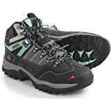 Pacific Mountain Ascend Women's Waterproof Hiking Backpacking Mid-Cut Grey/Black/Turquoise Boots Size 9