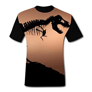 91abd9222 Amazon.com  ZJng06 Dinosaur Skeleton Men s T-Shirt 3D Printing ...