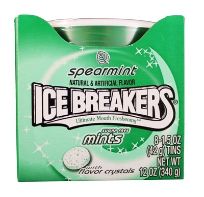 Ice Breakers Spearmint Mints, 1.5-Ounce Pucks (Pack of 16) by Ice Breakers