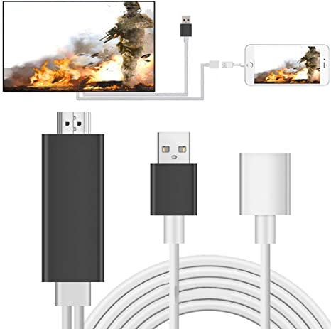 Cable HDMI para duplicar teléfono a TV HDTV Adaptador para iPhone 8/7s/6/6S/Plus/X iPad: Amazon.es: Electrónica