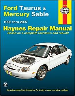 manual mercury sable 2001