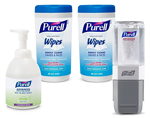 Purell 9120-K2-EC Classroom Teacher's Kit with Foam Hand Sanitizer, Wipes and Everywhere System Starter Kit (Tahoe Tub Package)
