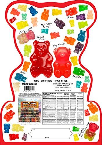 Happy Yummies Worlds Best Tasting Gourmet Gummies Super Bear Assortment 4lb. (64...