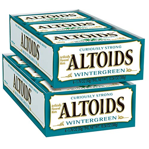 (ALTOIDS Classic Wintergreen Breath Mints, 1.76-Ounce Tin (Pack of 12))