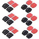 XCSOURCE 12 PCS Flat Mounts & Curved Mounts + 3M Adhesive Pads Set For Gopro Hero 4/3+/3/2/1 SJ4000 OS180