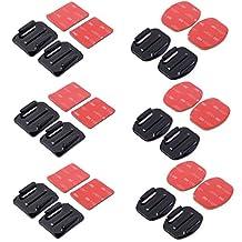 XCSOURCE 12 PCS Flat Mounts & Curved Mounts + 3M Adhesive Pads Set For Gopro Hero 4/3+/3/2/1 SJ4000 OS180