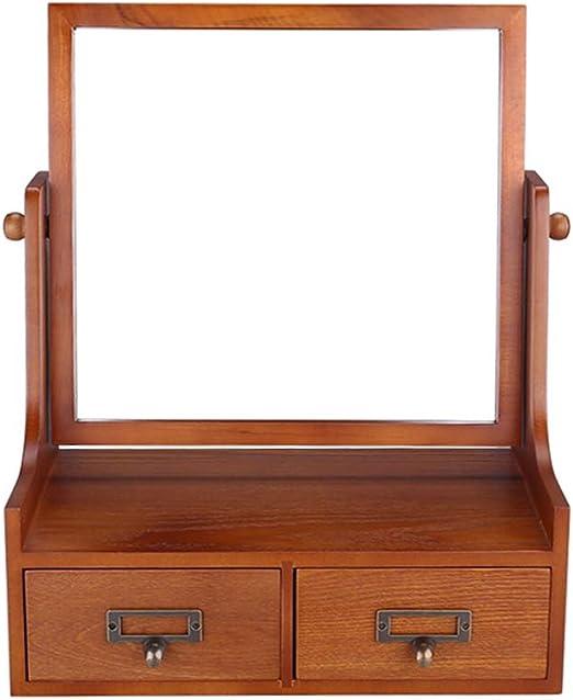 ChenChengShop Caja de almacenamiento cosmética - madera, con cajón ...
