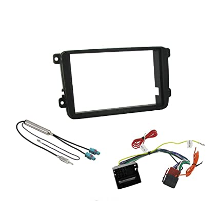 amazon com: vw passat, jetta, golf double din fitting kit fascia car stereo  installation kit: car electronics