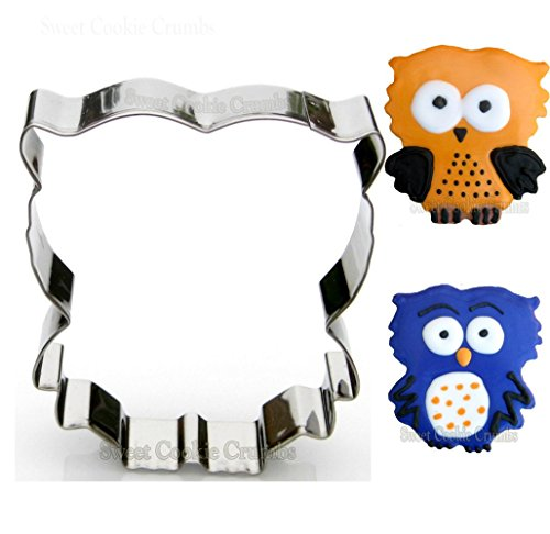 Fluffy Owl Cookie Cutter- Stainless Steel -