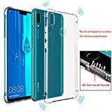 Soft TPU Case Airbag Shatter-Resistant 6D Surround Sound Protective Cover Transparent Shock-Proof Mobile Phone Case for Huawei P Smart 2019 Pot-LX3 POT-L23 Pot-LX1 POT-L21 POT-LX1AF Pot-LX2