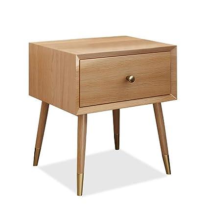 Amazon.com: Bedside table GJM Shop Solid Wood Bedside ...