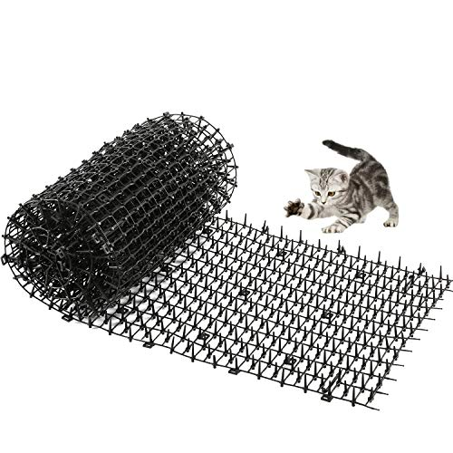 One Sight Cat Scat Mat with Spikes Anti-Cats Network Digging Stopper Prickle Strip Home Pest Repellent 78''