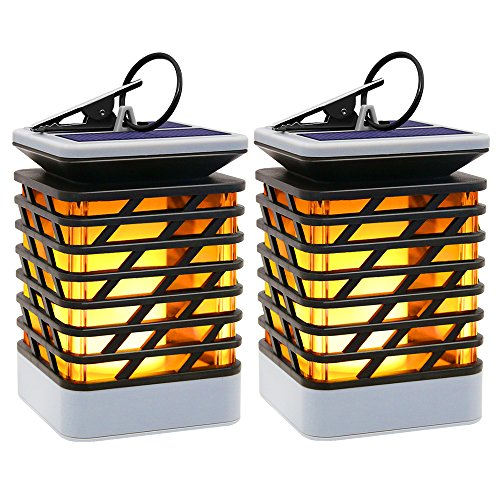 Cheap  Outdoor Solar Hanging Lights, Hallomall Solar Lanterns Waterproof IP55 with Dancing Flame..