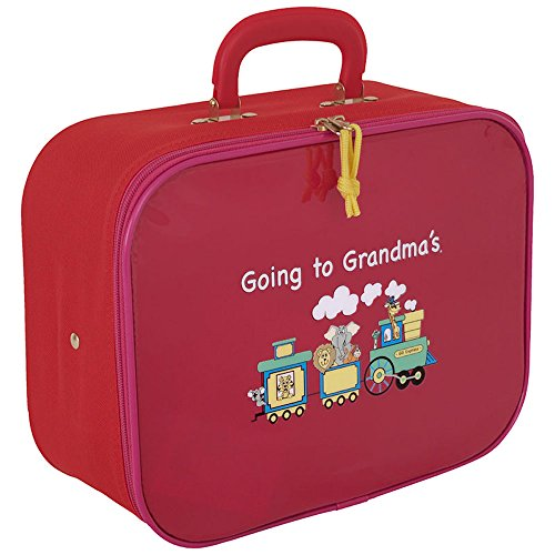 Going To Grandmas Suitcase - Childrens Train Case Going to Grandmas Red