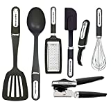 KitchenAid 7-Piece Essential Tool and Gadget Set, Black