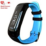 Blood Pressure Smart Watch Newyes NBS05 Heart Rate Monitor Sleeping management Fitness Tracker BP smartwatch compatable for Android and IOS smartphone (blue)