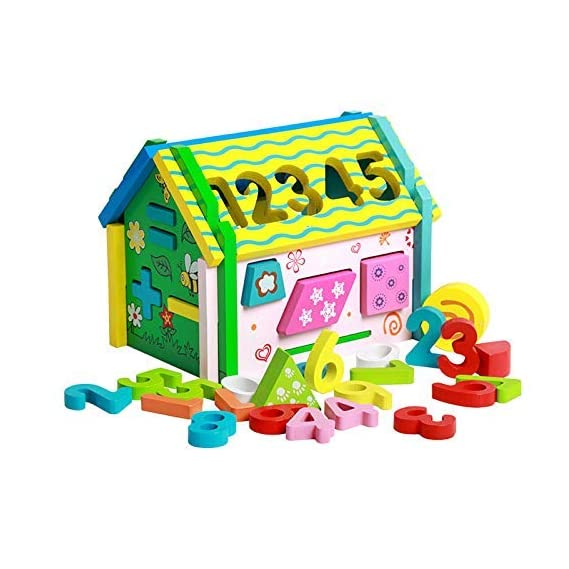 Party Propz Removable Wooden Baby Disassembly Assembly House Building Blocks Educational Toys