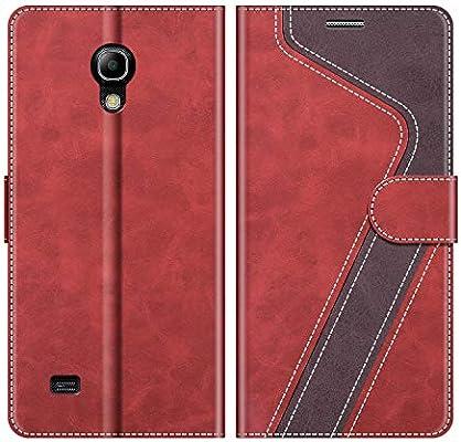 MOBESV Funda para Samsung Galaxy S4 Mini, Funda Libro Samsung S4 Mini, Funda Móvil Samsung Galaxy S4 Mini Magnético Carcasa para Samsung Galaxy S4 Mini Funda con Tapa, Rojo: Amazon.es: Electrónica