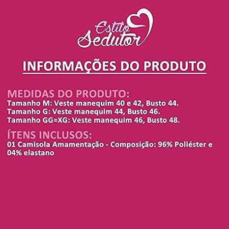 2f02072da Camisola Amamentação em Microfibra Branca Lara - GL349  Amazon.com.br   Amazon Moda