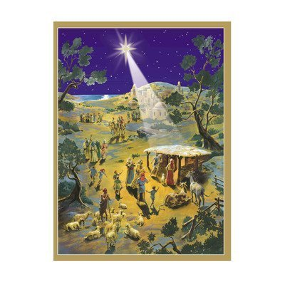 Sellmer Advent Christmas Holiday decor Nativity Scene Calendar 14''H x 10.5''W x 0.1''D by Alexander Taron