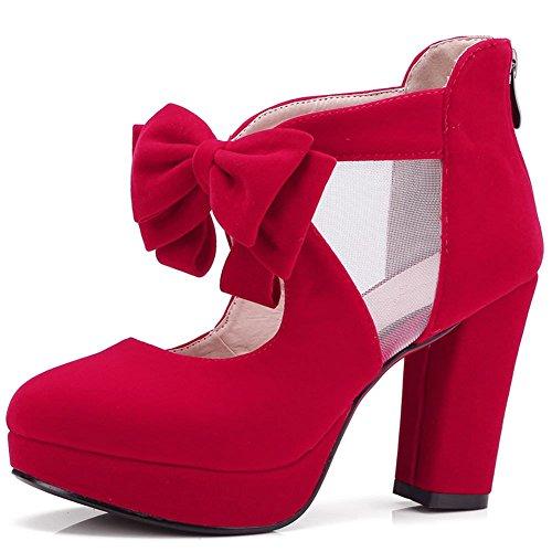 Gomas Diseño Color Mujer Verde de para Zapatos de DoraTasia Tacón 1 rojo Cw0SAXq