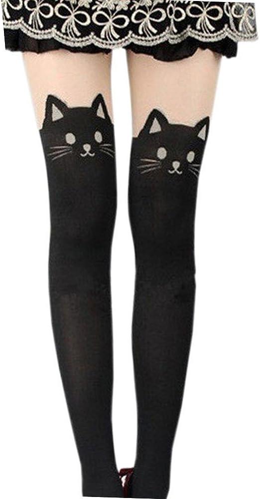 LATH.PIN Mujer Medias de Mujer Gato Negro de Mallas Leotardos Leggings Cat Cosplay Kitty Cat Taille Unique (150/165 cm): Amazon.es: Ropa y accesorios