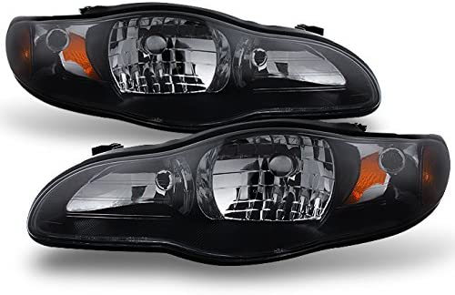 For 00-05 Chevy Monte Carlo Headlight//Lamp Replacement Smoked Lens Amber Corner