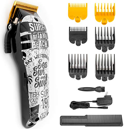 HONGNAL Professional Pro Hair Clippers Cutting Kit,2000mA Powerful Electric Cutting Trimmer Set,Hair Cutting Kit Cordless for Men,Great for Barbers and Stylists Summer Beach