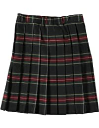 Cookie's Brand Big Girls' Pleated Skirt - Black/red/White/Gold *Plaid #63*, 18