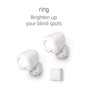 Ring Smart Lighting – Spotlight, Battery-Powered, Outdoor Motion-Sensor Security Light, White (Starter Kit: 2-pack)