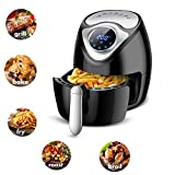 GREPUR Air Fryer 2.8QT Non-Stick Digital Electric Air Fryer 7 Presets to Cook Food Quickly and EvenlyMini Oven with LCD Display (with cookbooks) Review