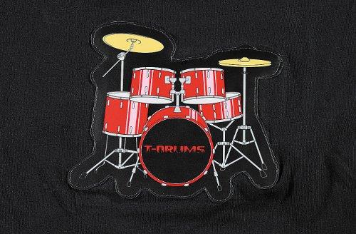 infactory T-Shirt mit Drum-Kit
