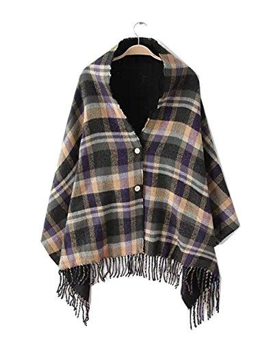 Km Women Autumn and Winter Bohemian Cloak Thicken Hooded ...
