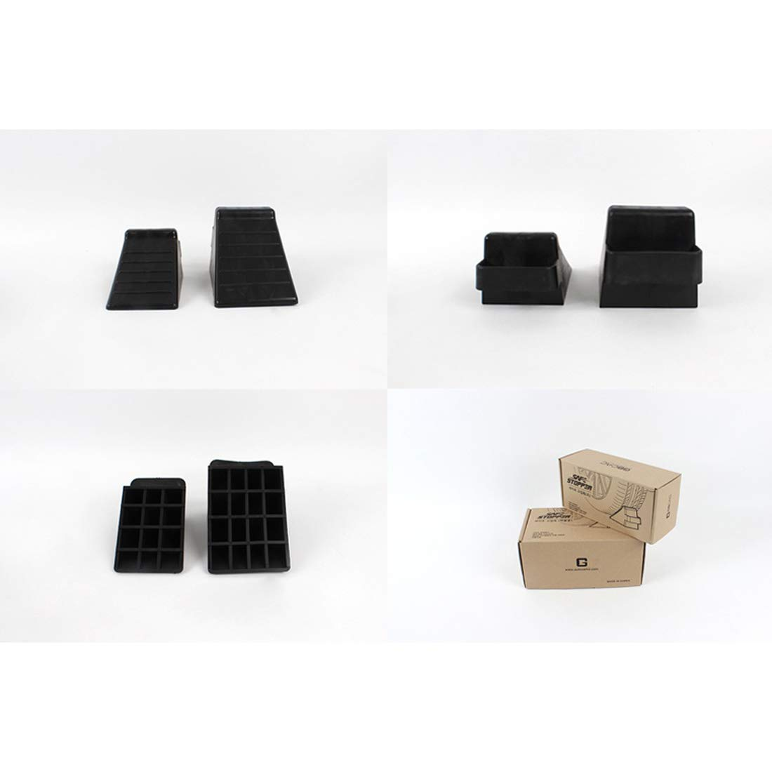 GB 2PCS of Tire Crutch Wheel Chocks for Car Truck Stopper Block Set (Large) by [GBOEM] (Image #7)
