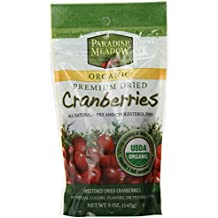 Paradise Meadow Organic Premium Dried Cranberries, 5-Ounce