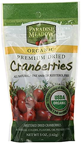 Paradise Meadow Organic Premium Dried Cranberries, 5-Ounce - Cranberry Recipes