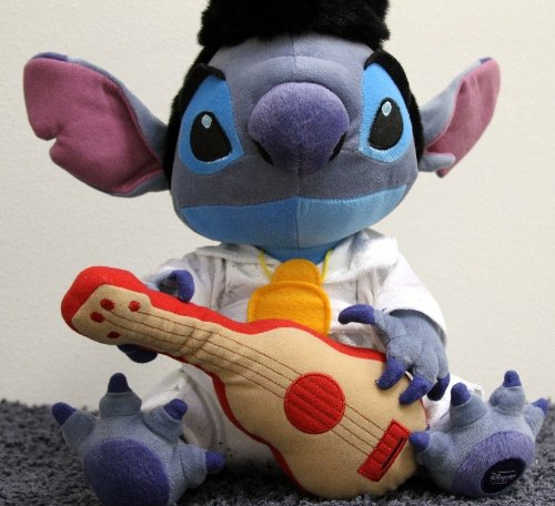 Retired Disney Hard to Find Lilo and Stitch Large 15 Inch King of Rock and Roll Elvis Stitch Plush Doll
