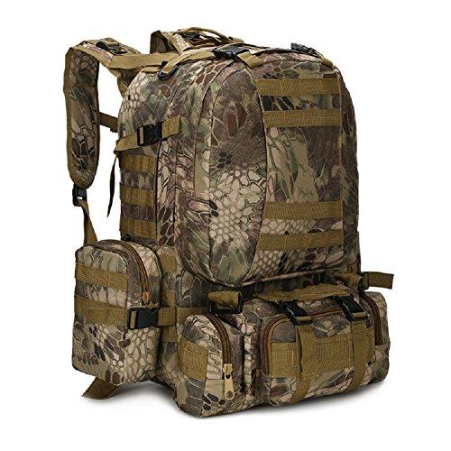 Z&N Backpack Ventiladores militares camuflaje paño impermeable de Oxford morral militar mochila táctica bolso de los hombres que acampa mochila al aire libre caminando mochila de la combinaciónD56L D