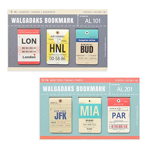 Monolike Magnetic Bookmarks Airlinetag 6 Pieces