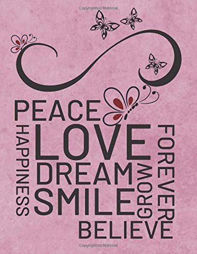 Happiness Peace Love Dream Smile Inspirational Quotes Retirement Appreciation Gifts For Women And Professionals Teachers Who Have Made A Big Impact On People S Lives Positive Quotes Notebook 9781695991002 Amazon Com Books