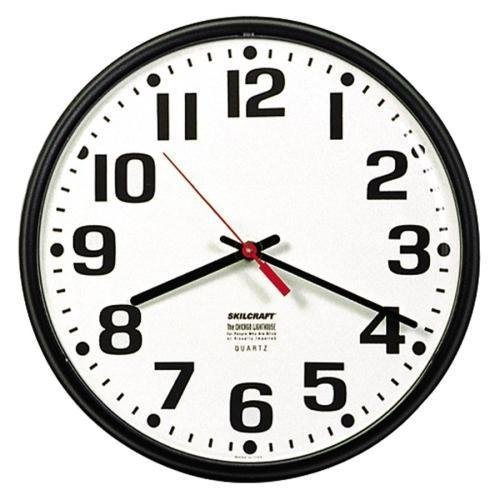 6645-01-389-7944 SKILCRAFT Slimline Wall Clock - Analog - Quartz