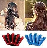 PHEZEN 2Pcs Women Baby Girls Twist Braid Sponge Hair Braider Hair Braiding Machine French Braider DIY Hair Styling Tool (Red + Blue)