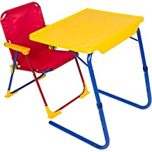 Table-Mate 4 Kids Plastic Folding Table and Chair Set (Red/Blue/Yellow)