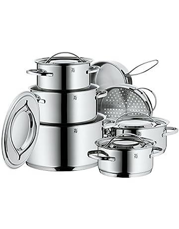 Ahorra en WMF Gala Plus Batería de Cocina (7 Piezas), Acero Inoxidable Cromargan