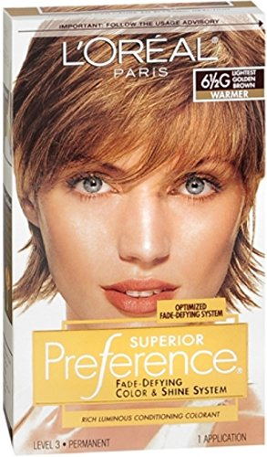 Pref Haircolor 6.5g Size 1ct L'Oreal Preference Hair Color Lightest Golden Brown #6.5g - Loreal Golden Brown Hair Color