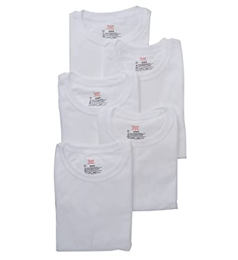 699d7a66 Hanes Platinum Crew T-Shirts - 5 Pack (Y135P5) S/White at Amazon Men's  Clothing store: