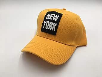 Curved Baseball & Snapback Hat cap Yellow