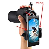 New Universal Spotting Scope Phone Adapter Makes Great Monocular Camera For Phone, Works With X-Cell Eyepiece, Binoculars, Telescopes, Night Vision Spotting Scopes. (Color Black)